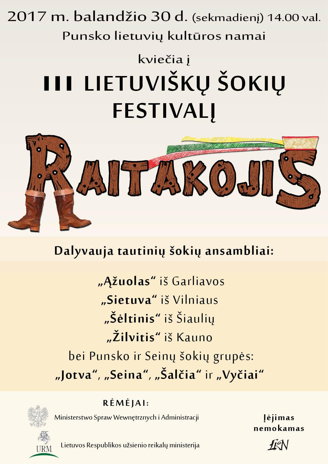 III lietuviškų šokių festivalis